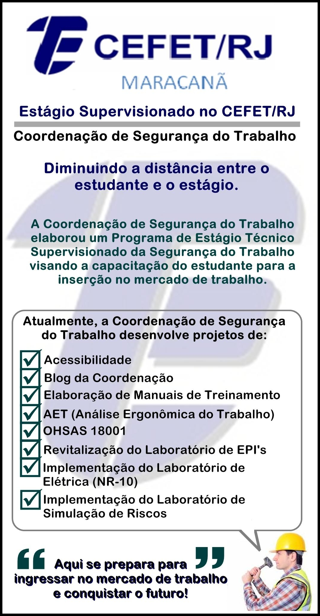 Banners e Folders   Coord. de Segurança do Trabalho – CEFET RJ ee1cf431d0